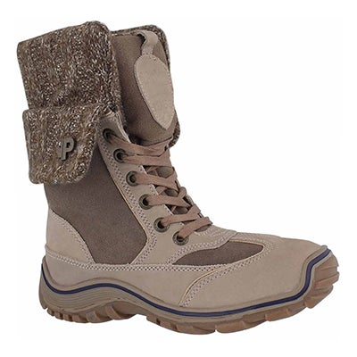 Lds Ava honey/dk brn wtpf winter boot