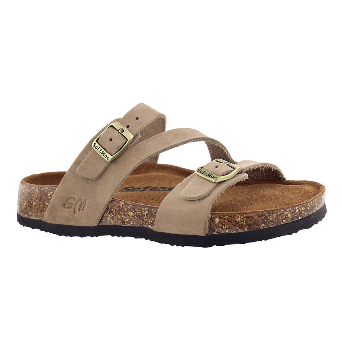 Women's AVALON 5 taupe memory foam sandals