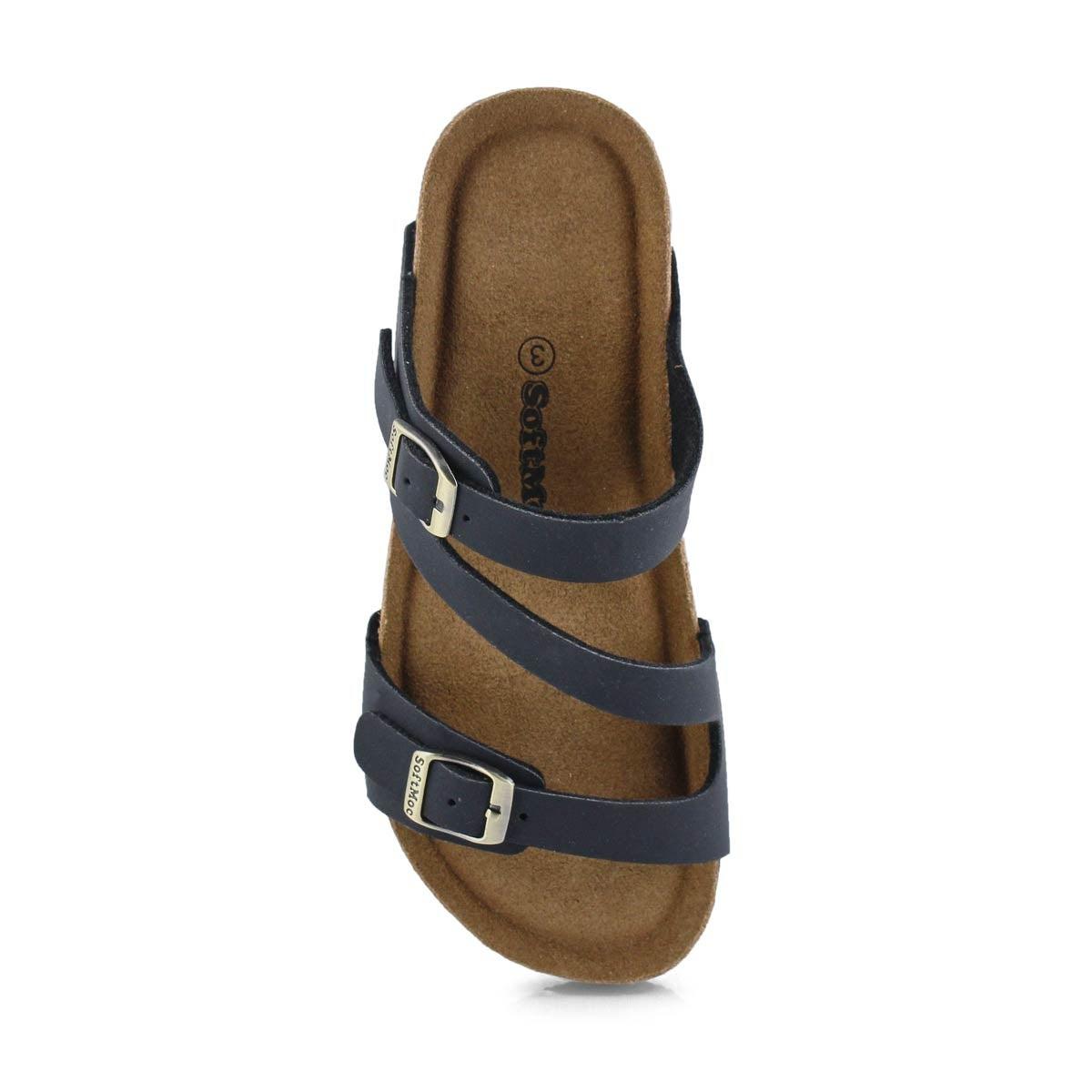 Grls Avalon 5 blk crz memory foam sandal