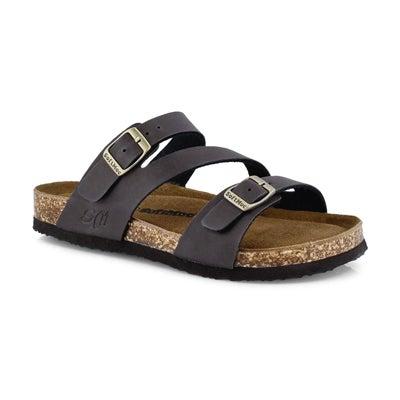 Grls Avalon 5 brn crz memory foam sandal