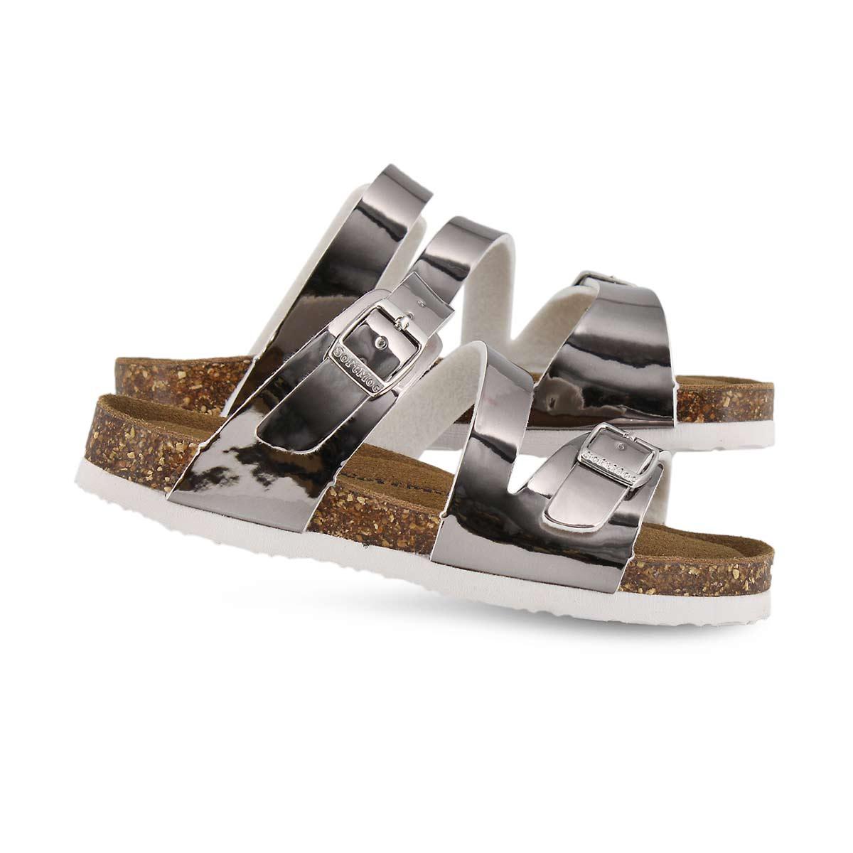 Grls Avalon 6 slv pat memory foam sandal