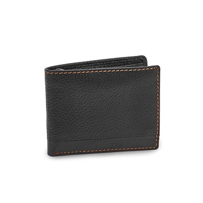 Mns Avery blk removable id flap wallet