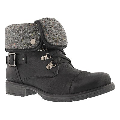 Lds Avery 2 blk lace up casual boot