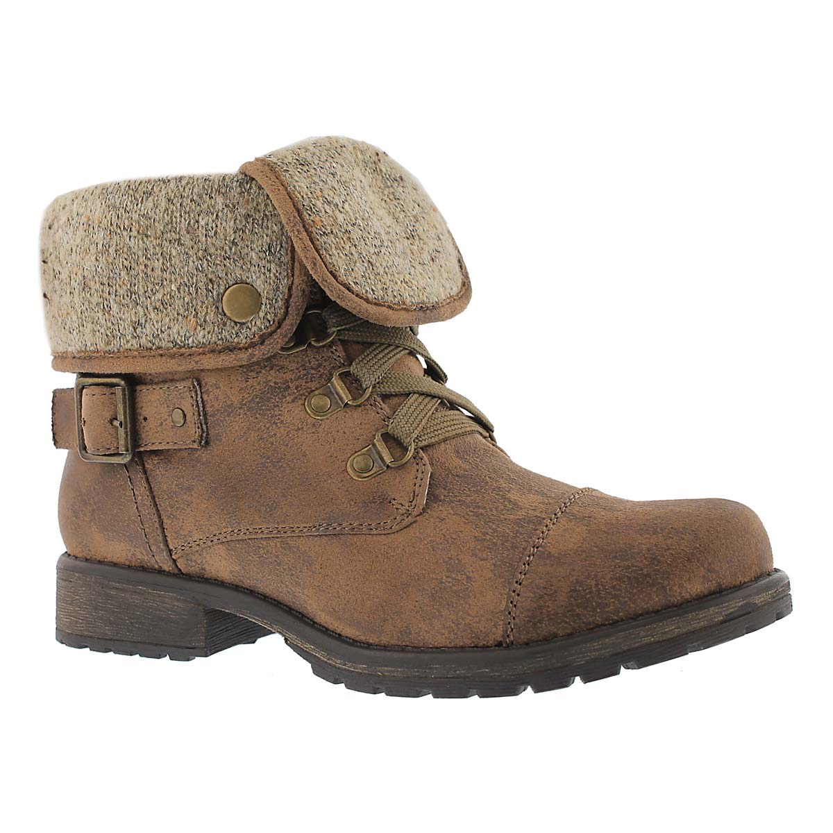 Women's AVERY 2 brown lace up casual boots