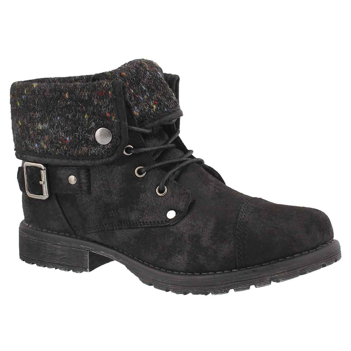Lds Avery 3 blk lace up casual boot