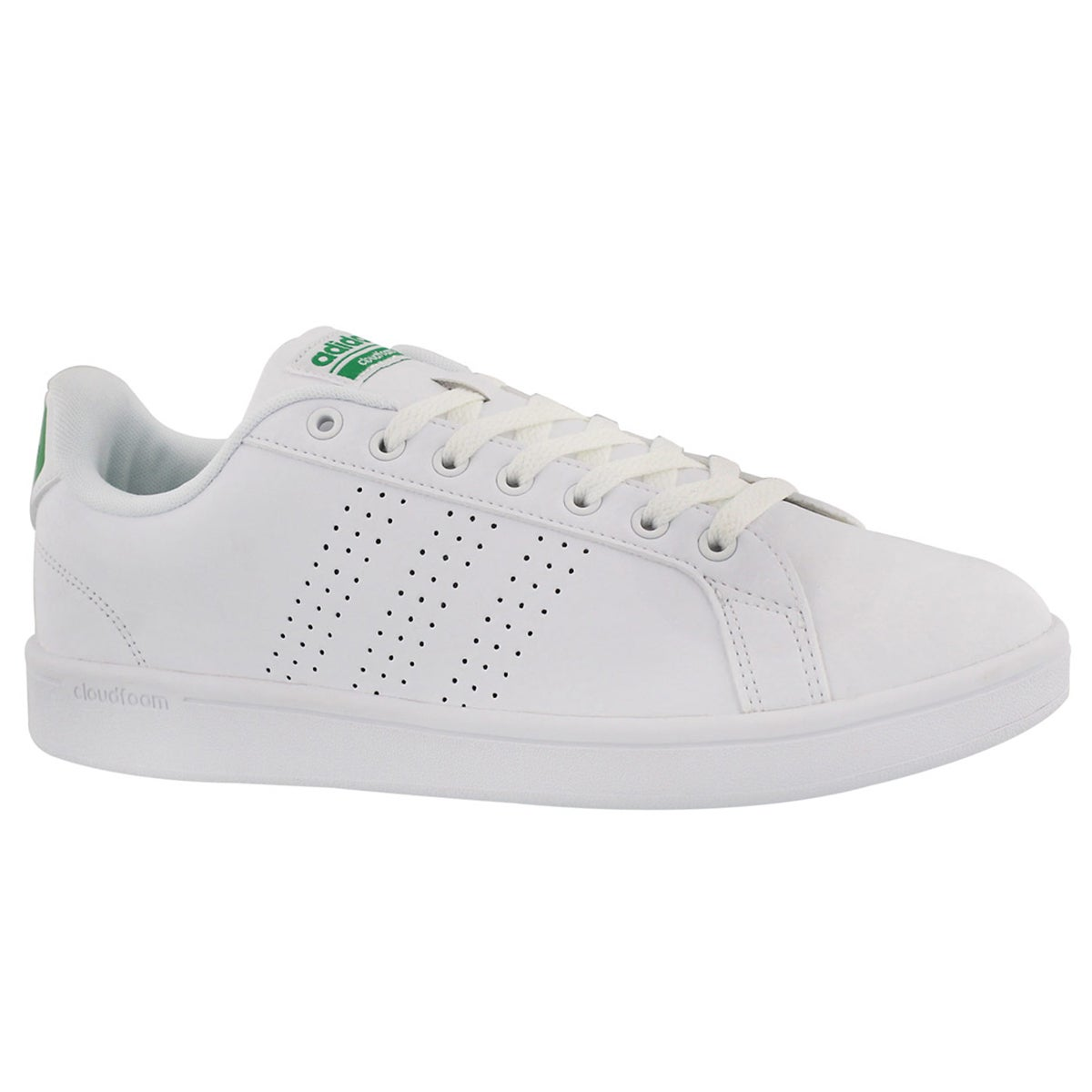 Men's CLOUDFOAM ADVANTAGE CLEAN wht/grn sneakers