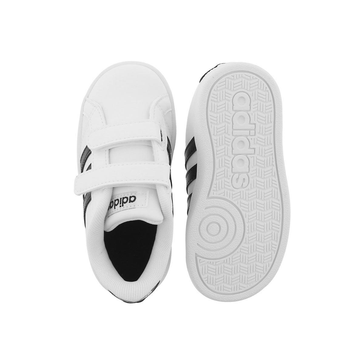 Inf Baseline CMF wht/blk sneaker