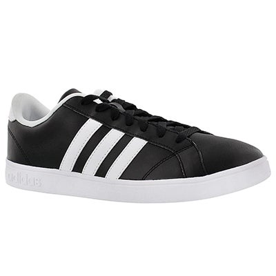 Adidas Men's BASELINE black/white stripe sneakers
