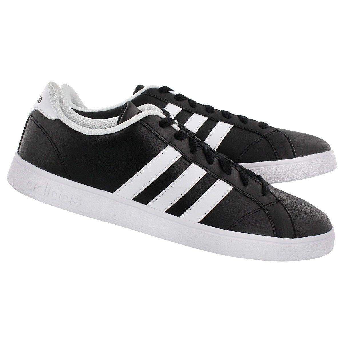 Mns Baseline blk/wht stripe sneaker