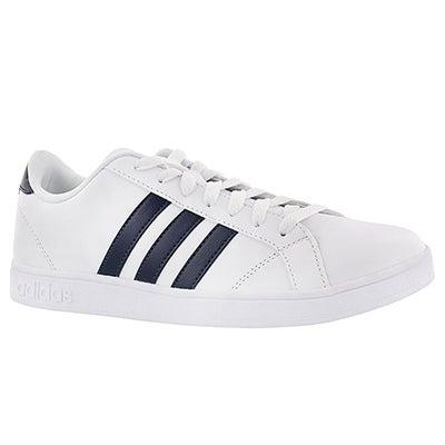 Adidas Men's BASELINE white/navy stripe sneakers