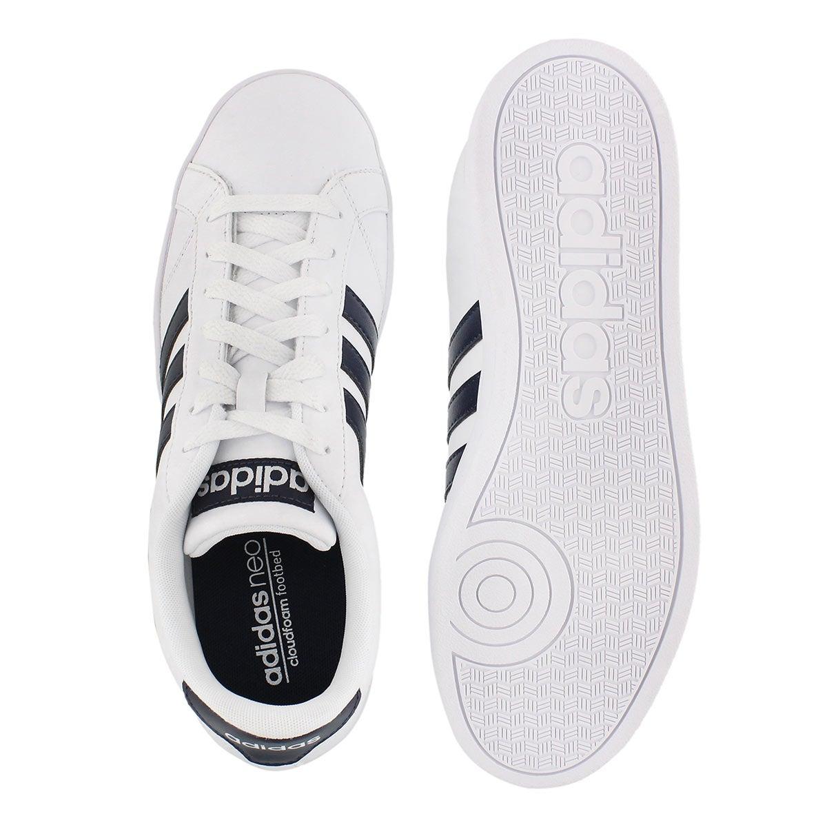 Mns Baseline wht/nvy stripe sneaker