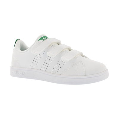 Adidas Kids' ADVANTAGE CLEAN CMF white/green sneakers