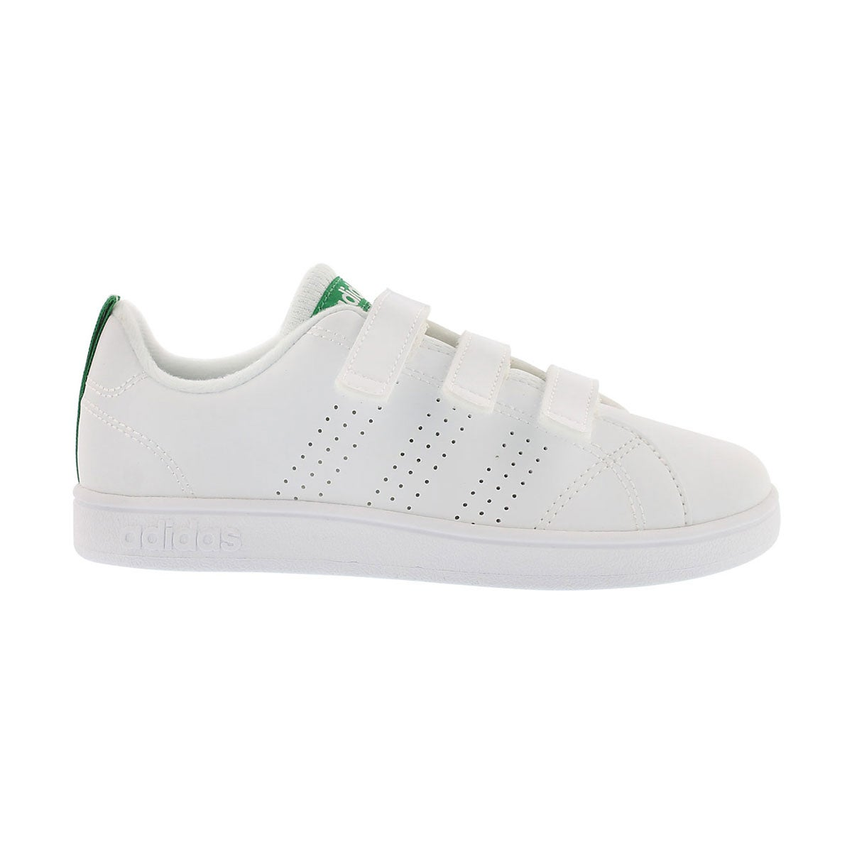 Chlds Advantage Clean CMF wt/grn sneaker