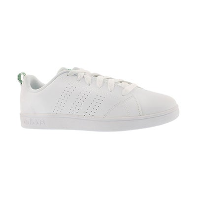 Adidas Kids' ADVANTAGE CLEAN white sneakers