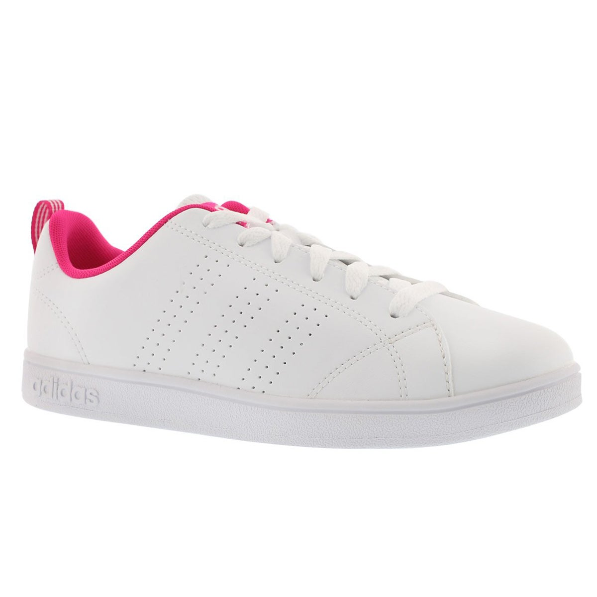 Girls' ADVANTAGE CLEAN white/pink sneakers