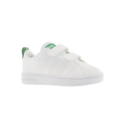 Adidas Infants' ADVANTAGE CLEAN CMF white/green sneakers