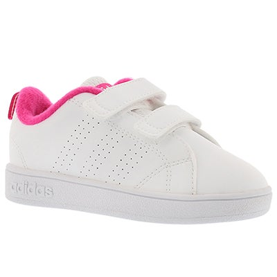 Adidas Infants' ADVANTAGE CLEAN white/pink sneakers