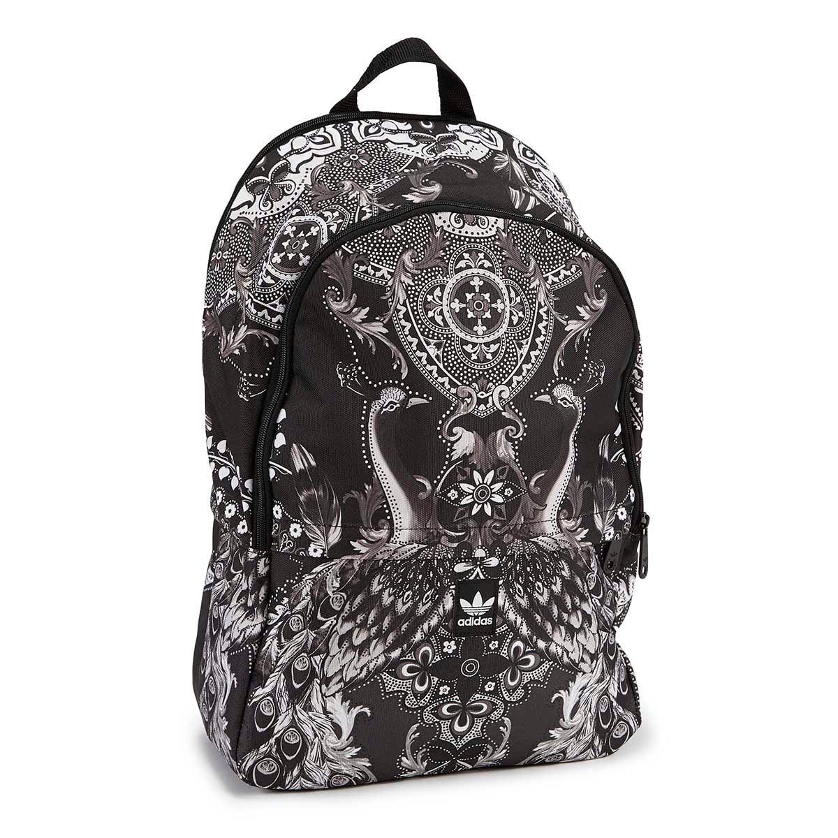 Lds Pavao De Cor blk/wht print backpack