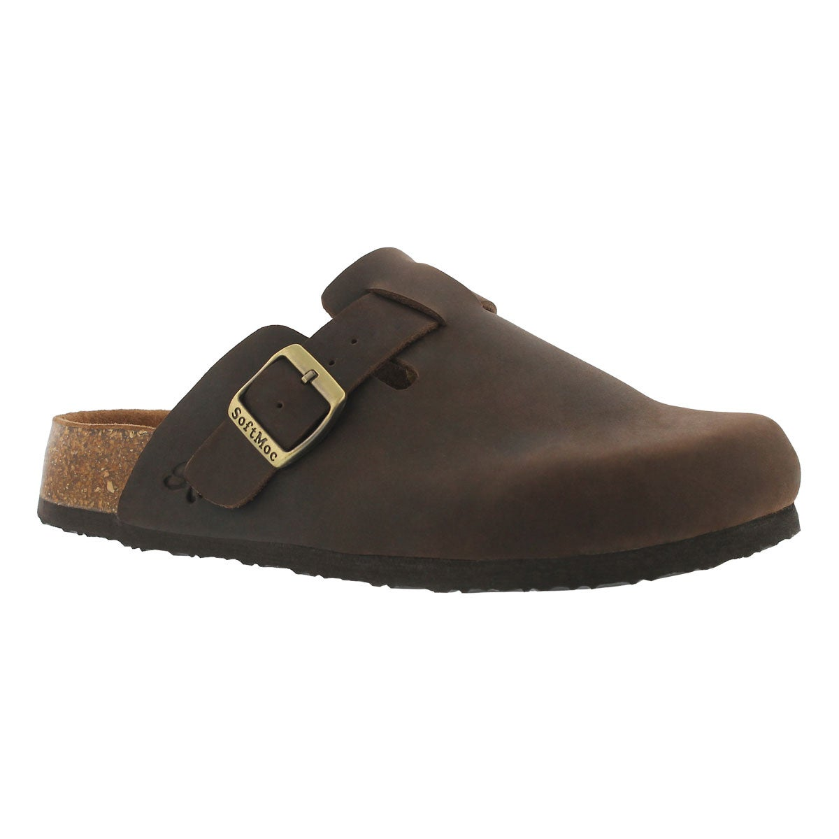 Women's AYR 5 brown memory foam casual clogs