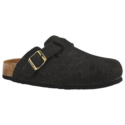 Lds Ayr 5 black wool casual clog