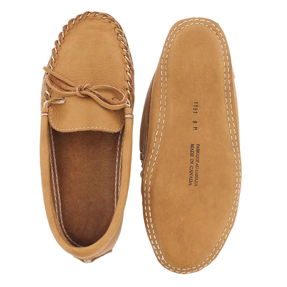 Mns cork double sole moosehide moc