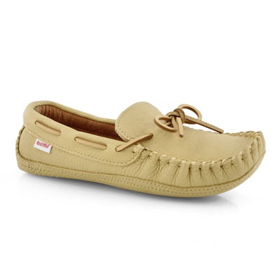 Mns 1471 deer cream lthr moccasin