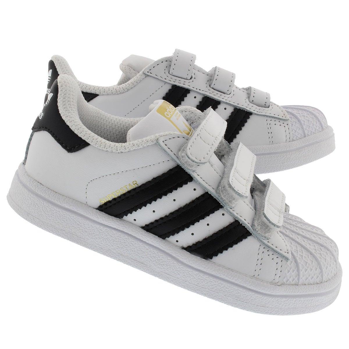 Espadrilles SuperstarCF, blanc/noir, béb