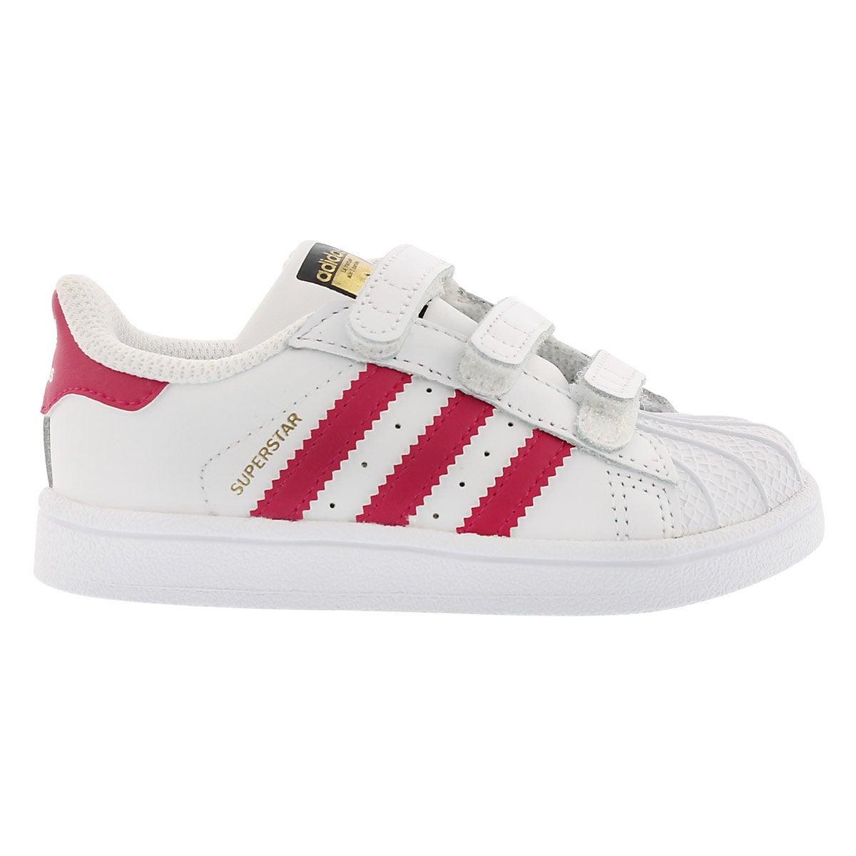 Infs Superstar wht/pnk sneaker
