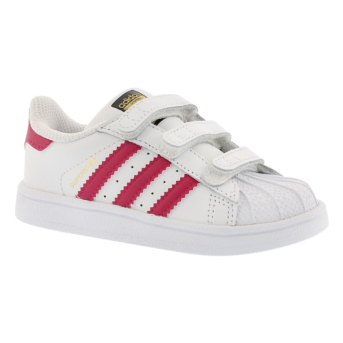Infants' SUPERSTAR FOUNDATION wht/pnk sneakers