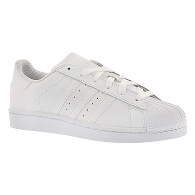 Chlds Superstar white lace up sneaker
