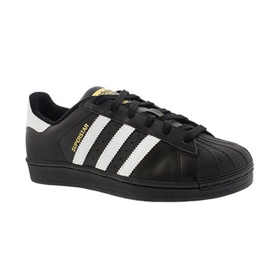 Adidas Boys' SUPERSTAR FOUNDATION black/white sneakers