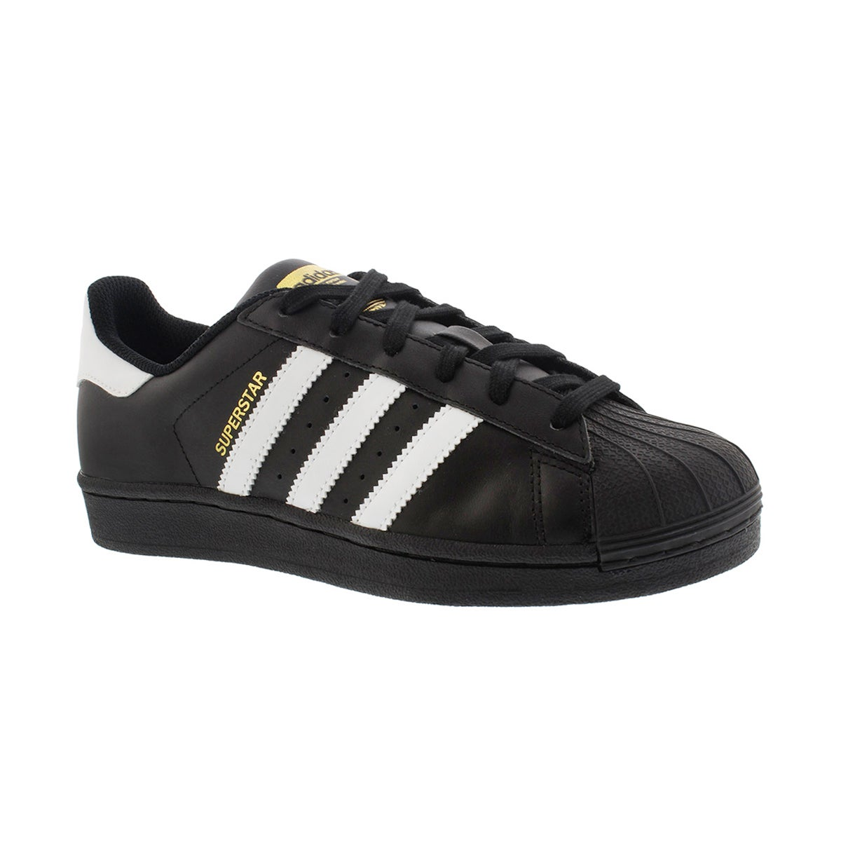 Boys' SUPERSTAR FOUNDATION black/white sneakers