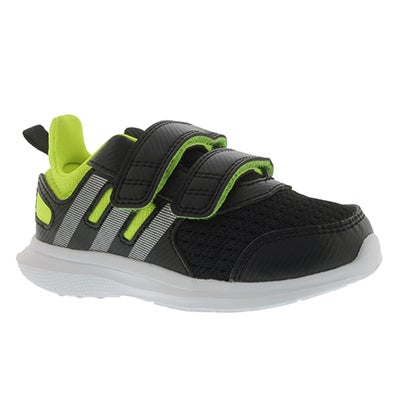 Adidas Infants' HYPERFAST 2.0 black/yellow running shoes