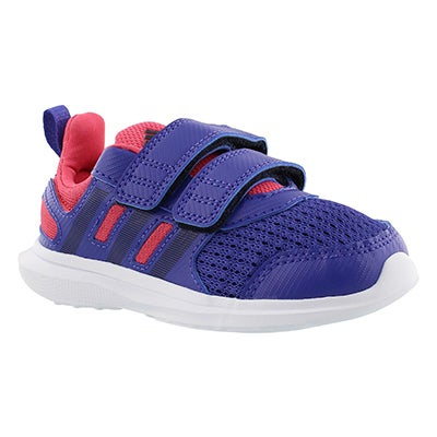 Adidas Infants' HYPERFAST 2.0 blue/pink running shoes