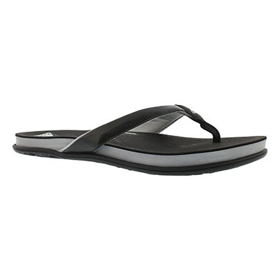 Adidas Women's SUPERCLOUD PLUS black thong sandals