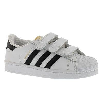 Adidas Espadrilles SUPERSTAR CF, blanc/noir, garçons