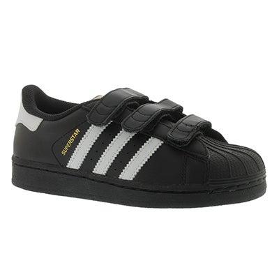 Adidas Espadrilles SUPERSTAR CF, noir/blanc, garçons