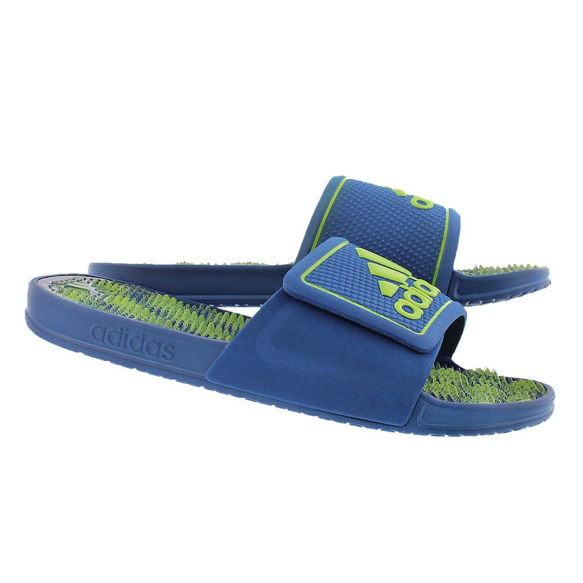 Mns Adissage 2.0 blue/lime slide sandal