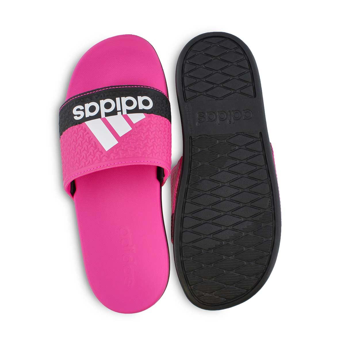 Grls Adilette Comfort pink/blk slide