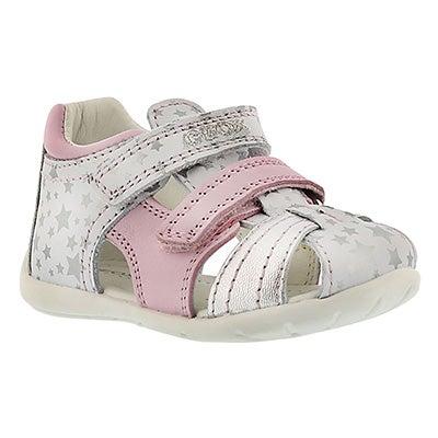 Geox Infants' KAYTAN white/silver fisherman sandals