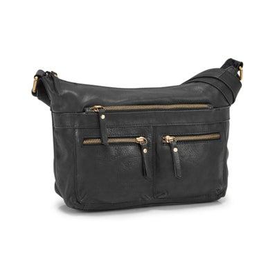 Lds Cora black shoulder bag