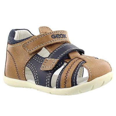 Geox Infants' KAYTAN caramel/navy fisherman sandals