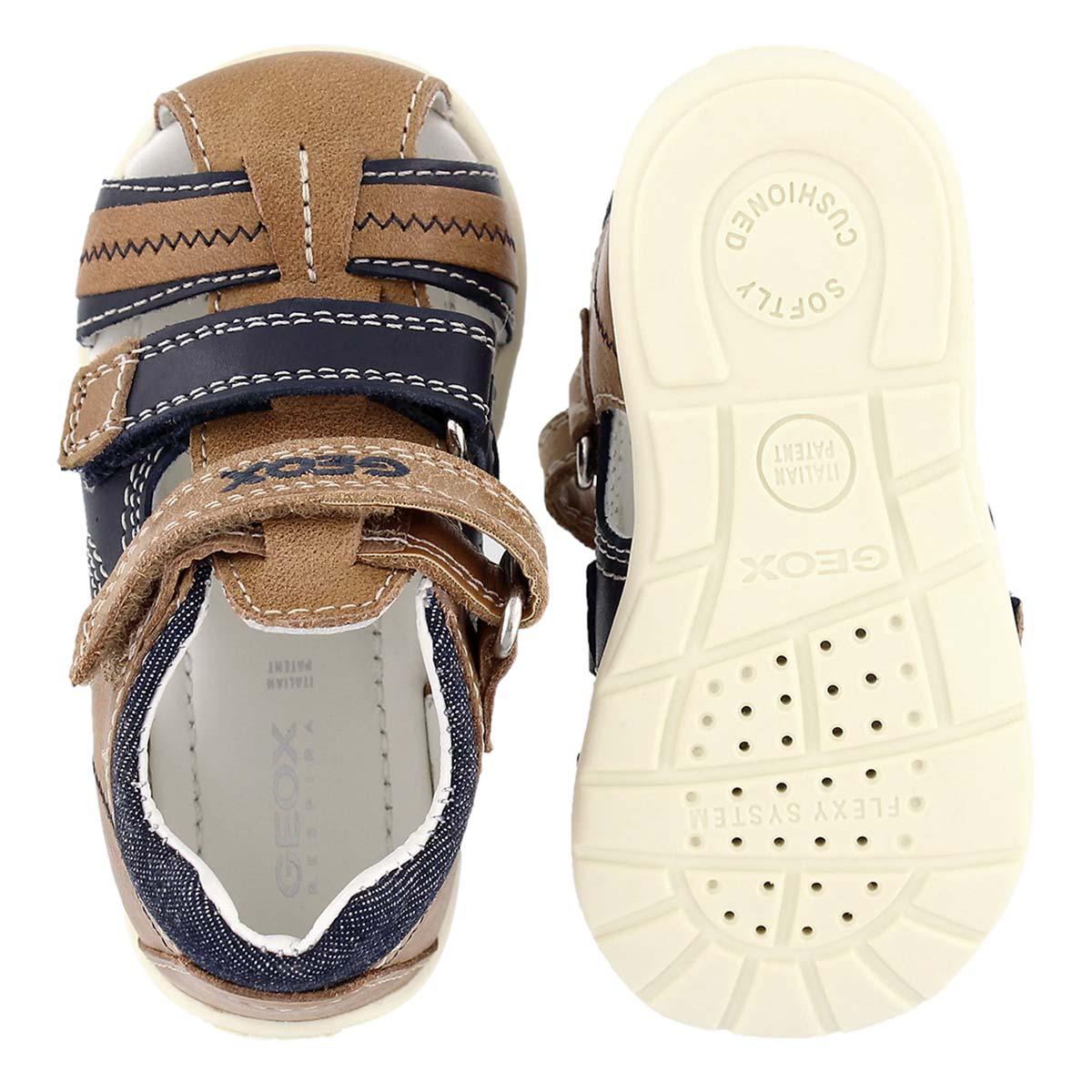 Infs Kaytan caramel/nvy fisherman sandal