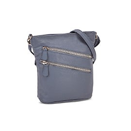 Lds Cassie denim crossbody bag