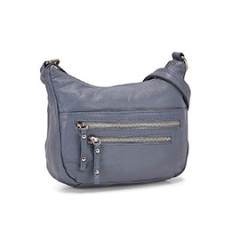 Lds Carrie denim crossbody bag