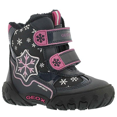 Geox Infants' GULP ABX C black/navy winter boots