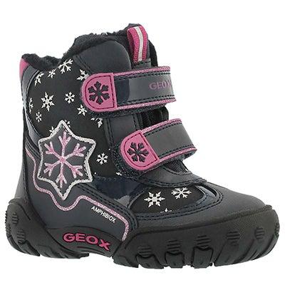 Geox Bottes d'hiver GULP ABX C, marine, bébés