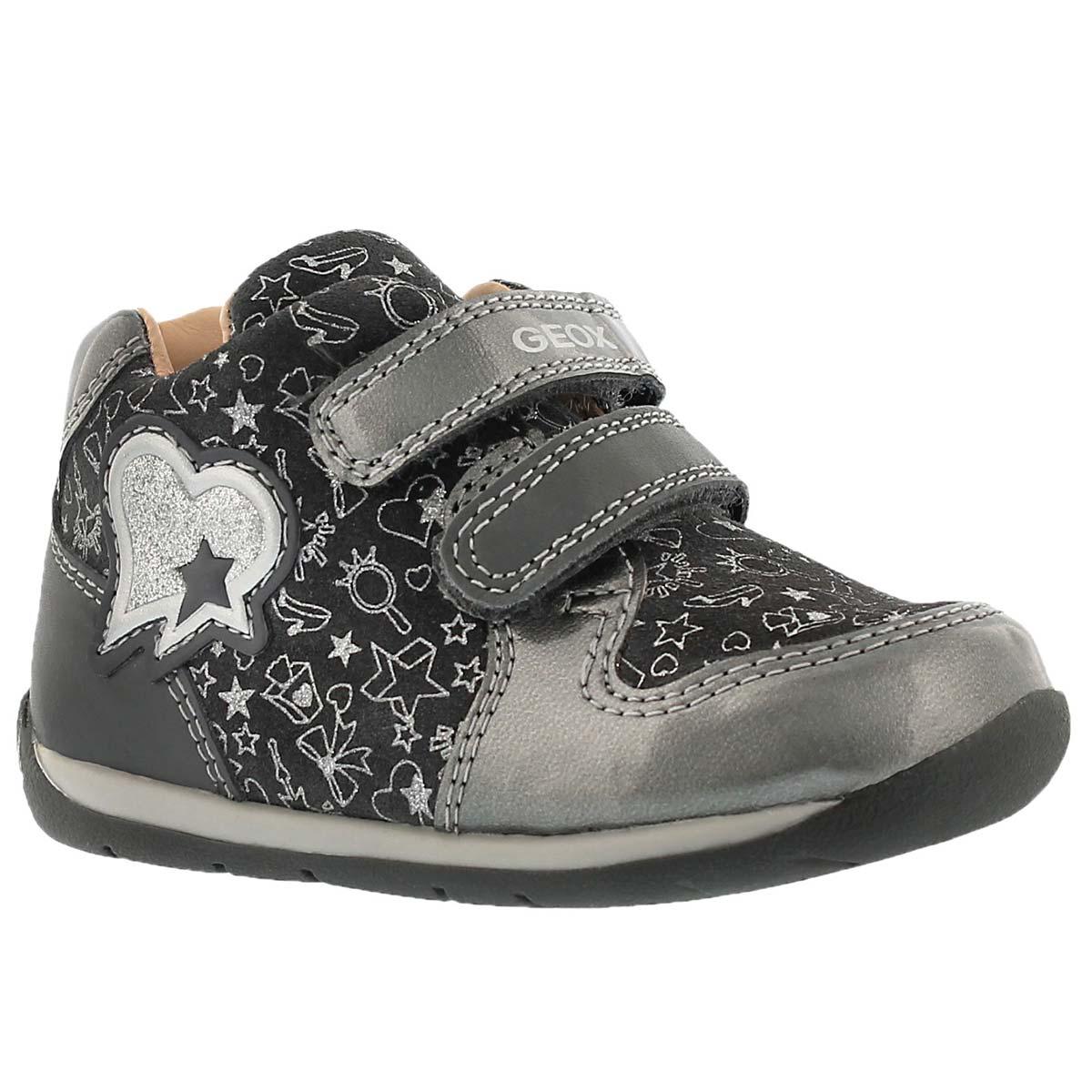 Inf Each C dark grey 2-strap sneaker