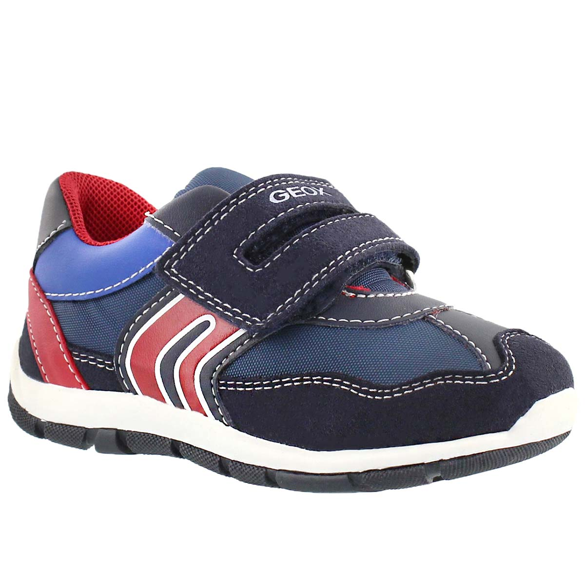 Infants' SHAAX B navy/red double strap sneakers