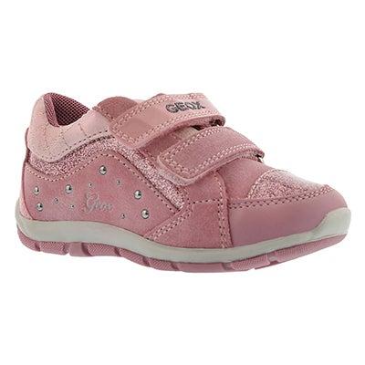 Inf Shaax dark pink 2-strap sneaker